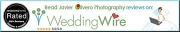 Weddingwire review link for Javier Olivero Photography